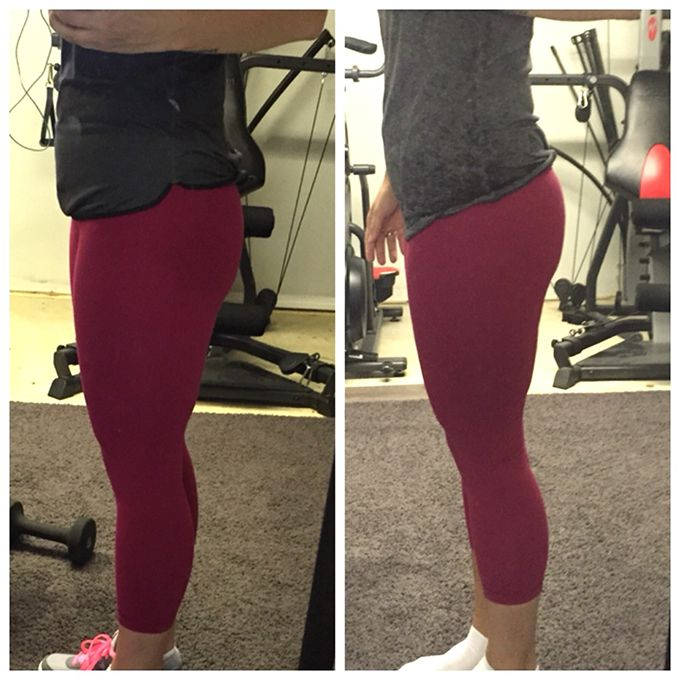 30 Day Squat Challenge Before and After Pictures