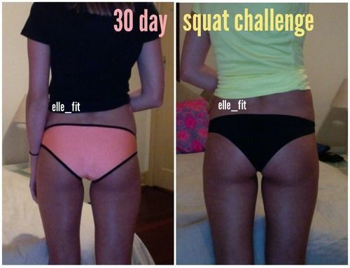 30 day squat challenge results before and after pictures
