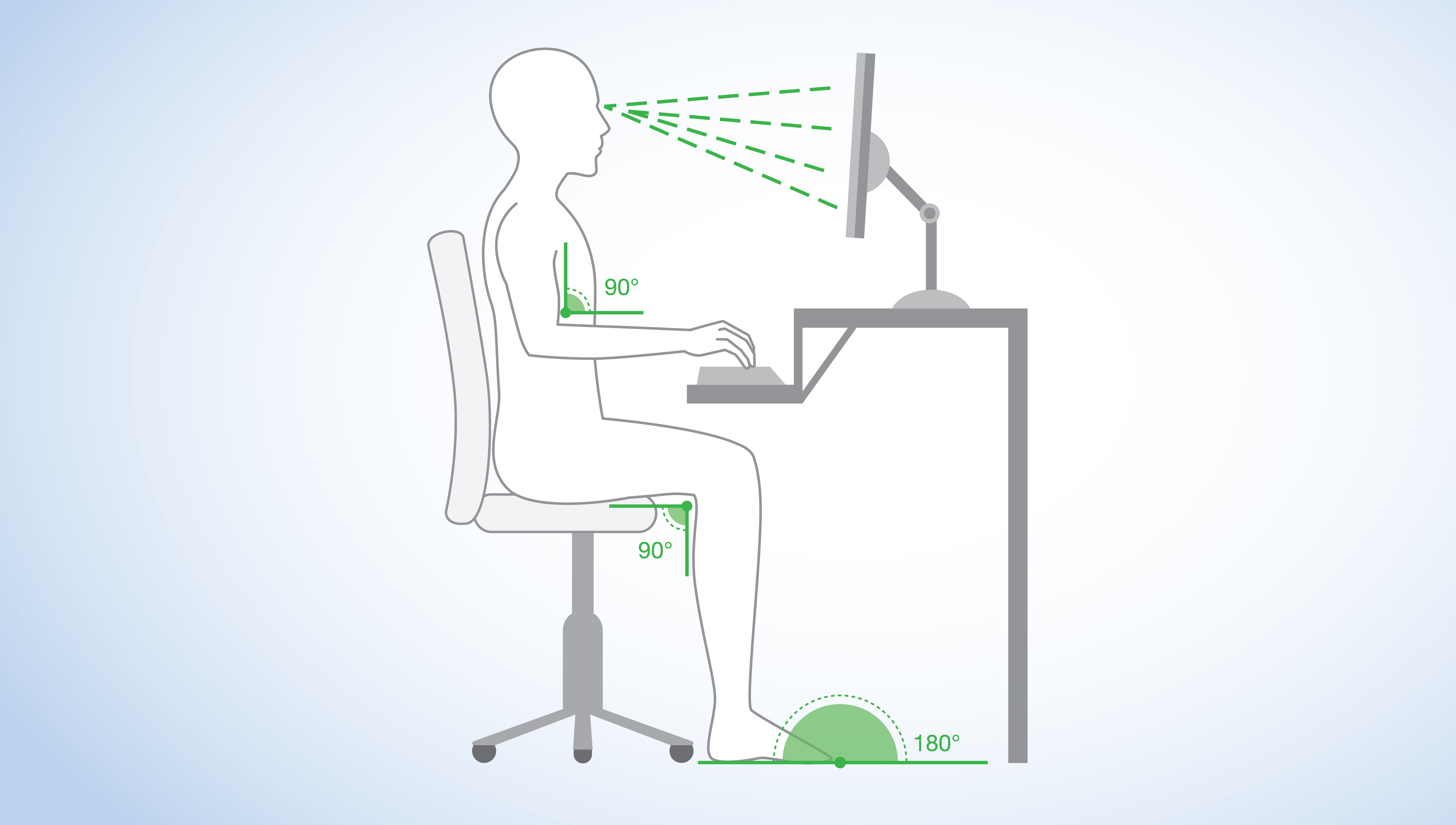 correct posture for sitting